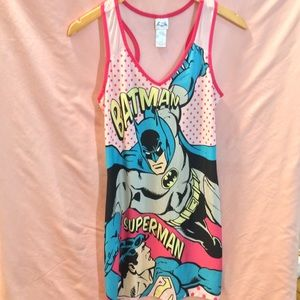 Batman Superman nightie dress